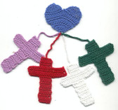 Crocheted Meditation Crosses