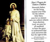 Short Prayers for Unborn Children Prayer Card