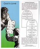 Ten Commandments Bookmark includes Act of Contrition and Jesus' words on the Greatest Commandment