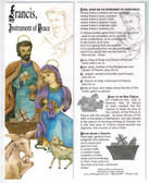 Saint Francis Bookmark featuring Lord, Make Me An Instrument of Your Peace prayer.