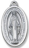 Small Miraculous medal pendant on chain, boxed