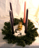 Advent wreath with Candles, Infant Christ and Rosary Centerpiece