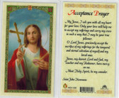 Acceptance Prayer, laminated prayer card