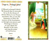 Prayer to Archangel Gabriel, Laminated prayer card