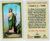 Novena to St. Martha, laminated prayer card