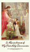 First Holy Communion Remembrance Card featuring prayer Anima Christi