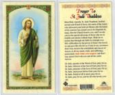 Prayer to St. Jude Thaddeus, laminated prayer card