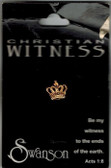 Witness Crown of Christ Lapel Pin