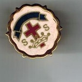 SS Crown and Cross Lapel Pin