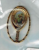 St. Christopher Mirror Design Lapel Pin