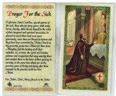 Laminated Prayer Card of St. Camillus for Sick.