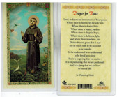 "Laminated Prayer Card of St Francis ""Prayer for Peace"""