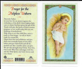 Laminated Prayer Card for the Helpless Unborn.