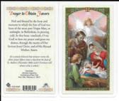 Laminated Prayer Card to Obtain Favors.