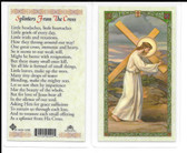"Laminated Prayer Card ""Splinters from The Cross""."