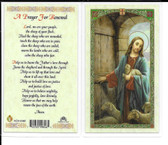 "Laminated Prayer Card ""A Prayer for Renewal""."
