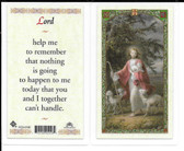 "Laminated Prayer Card ""LORD""."