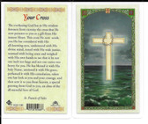 "Laminated Prayer Card ""Your Cross""."