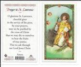 Laminated Prayer Card to Saint Lawrence