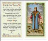 Laminated Prayer Card to Saint Thomas More