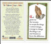 Laminated Prayer Card The Difference Prayer Makes