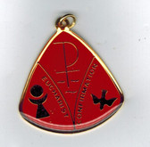Holy Spirit Red Medal Featuring Sacraments