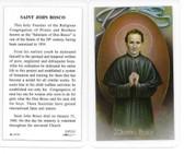 Laminated Prayer Card Saint John Bosco