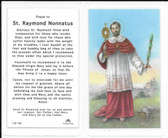 Laminated Prayer Card Prayer to Saint Raymond Nonnatus
