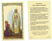 Novena to Our Lady of Lourdes Prayer Card