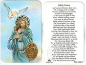 Safely Home Prayer Card for Deceased Person plus Medal