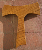 10 Inch Hand Crafted Wooden Tau Wall Cross