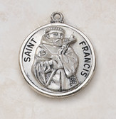 Saint Francis Pendant On Chain