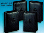 Black Leather Zipper Breviary Covers for Four Volume Liturgy of the Hours