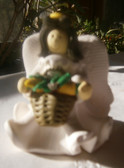 Vintage Dough Angel with Apple Imprint on Wing