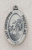 Saint Christopher Cheerleading Medal On Chain