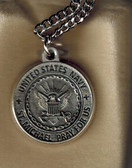 Saint Michael Navy Medal On Chain