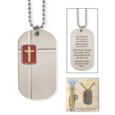 Two-Tone Dog Tag Pendant with Inscription