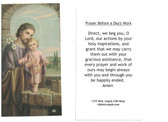 Prayer Before A Day's Work Prayer Card