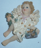 Cherub Angel Magnet With Stars