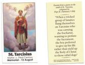 Saint Tarcisius Prayer Card