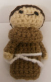 Saint Anthony Crochet Finger Puppet