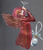 Angel & Ball Ornament