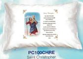 St. Christopher Prayer Pillowcase  English