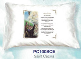 Saint Cecilia Prayer Pillowcase