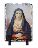 Our Lady of Sorrows Vertical Slate Tile