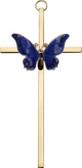 Bliss Blue Butterfly Resurrection Cross