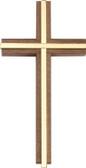 Bliss Plain Walnut Wall Cross