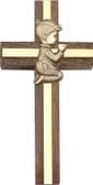 Bliss Praying Boy or Girl Walnut Cross
