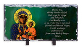 Our Lady of Czestochowa Image and Prayer Slate Tile
