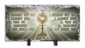 O Sacrament Most Holy - Monstrance Prayer Horizontal Slate Tile